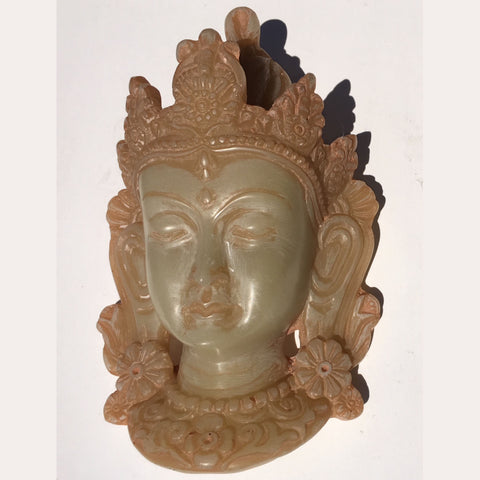 Small Resin Green Tara Mask (Glow in the Dark) (TMGL-1)