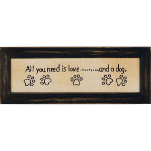 PLAQUE ALL YOU NEED IS LOVE