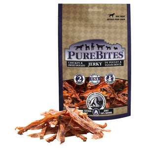 Pure Bites-Chicken Jerkey/Sw Pot 180GY