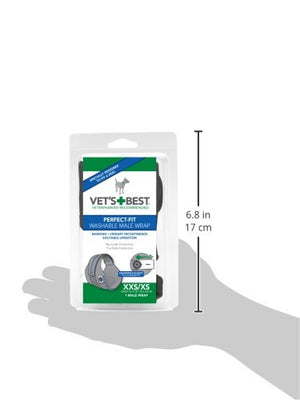 VETS BEST WASHABLE DIAPER WRAP - Male - XXS/XS