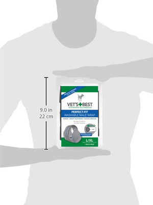VETS BEST WASHABLE DIAPER WRAP - Male - L/XL