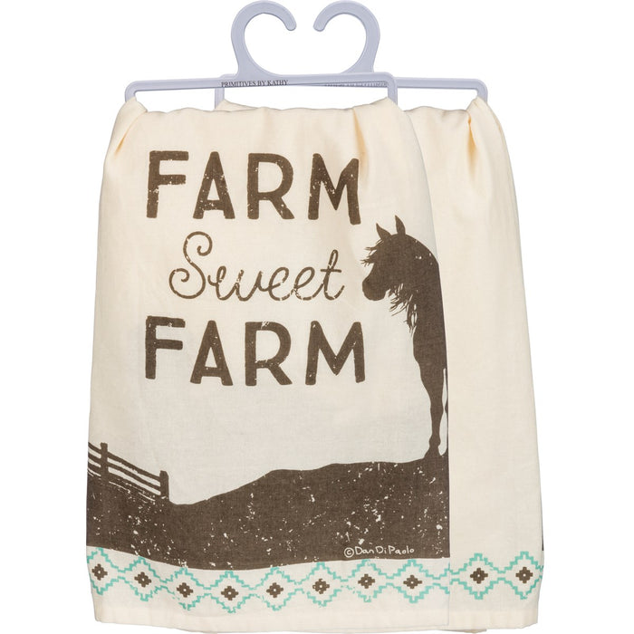 DISH TOWEL- FARM SWEET FARM