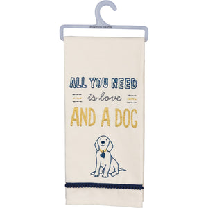 DISH TOWEL- LOVE AND A DOG