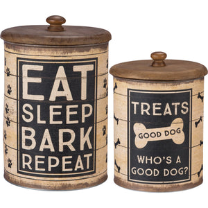 CANISTER SET- JAR 2PC GOOD DOG