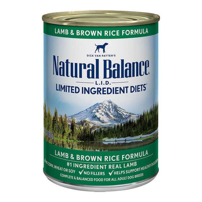 Natural Balance Dog - Lamb & Brown Rice Can 13oz