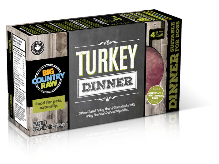 TURKEY DINNER 4 X 1 LB BIG COUNTRY RAW