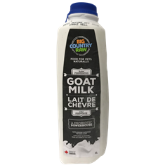 Goat Milk 1L Raw Unpasteurized Big Country Raw