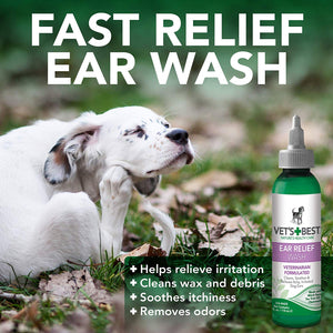 VETS BEST EAR RELIEF WASH & DRY 2PK