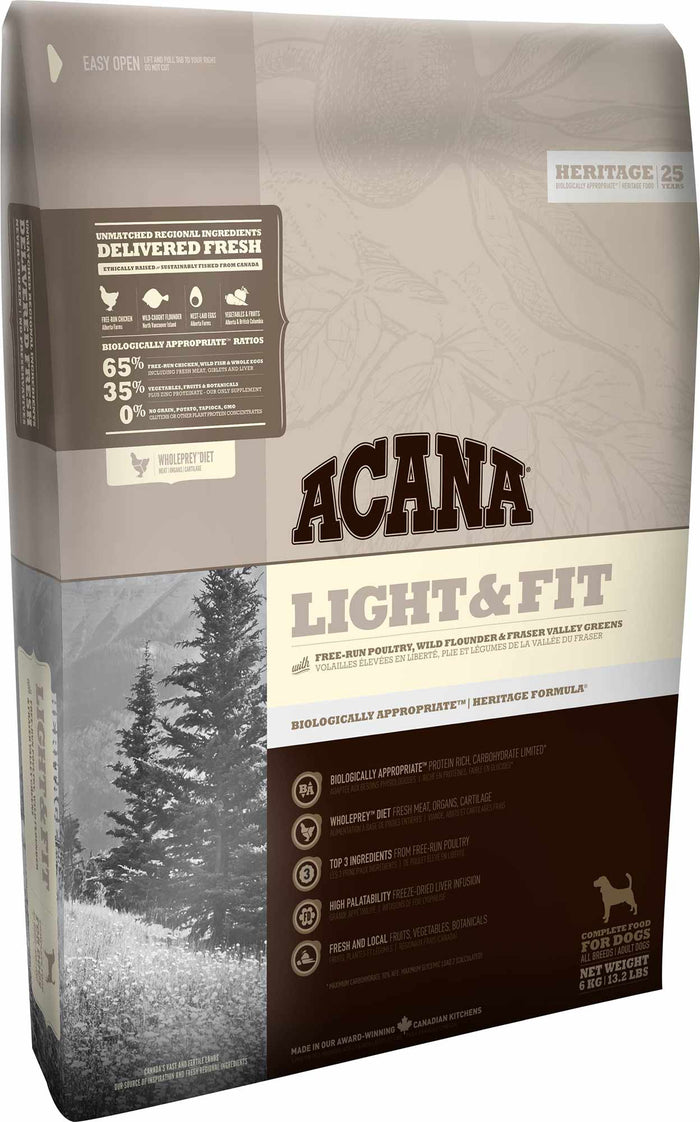Acana Heritage Light & Fit Dog 6kg
