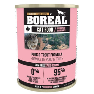 Boreal Cat Can Pork & Trout  369g
