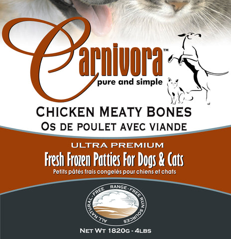 Carnivora Chicken Meaty Bones 4lb - 8oz Patties
