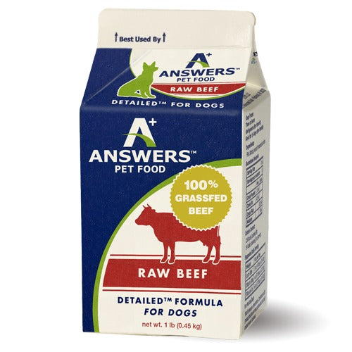 Dog Beef Detailed 1 lb Answers