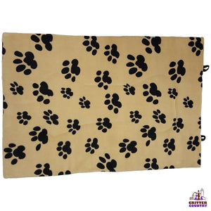 Unleashed Paw Print Mat Bed Large 36x23