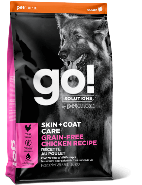 GO DOG SKIN & COAT  CHICKEN GRAIN FREE 12LB PINK