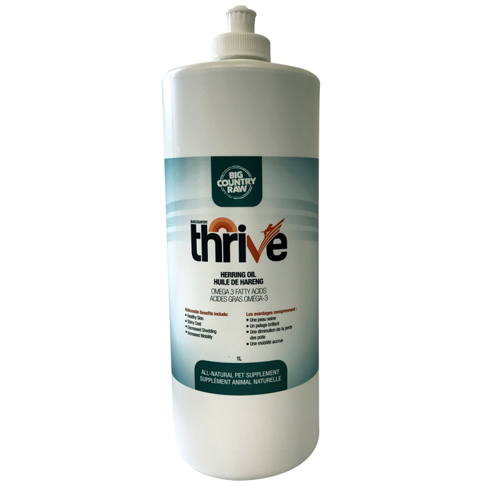 THRIVE HERRING OIL 1L  BIG COUNTRY RAW