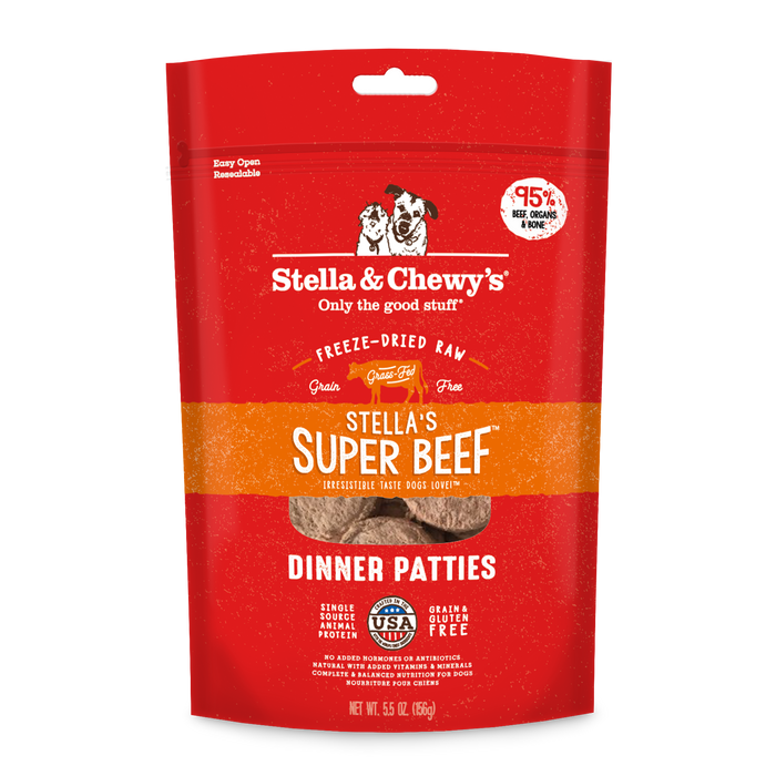 STELLA & CHEWY'S- FREEZE DRIED BEEF DINNER 15OZ