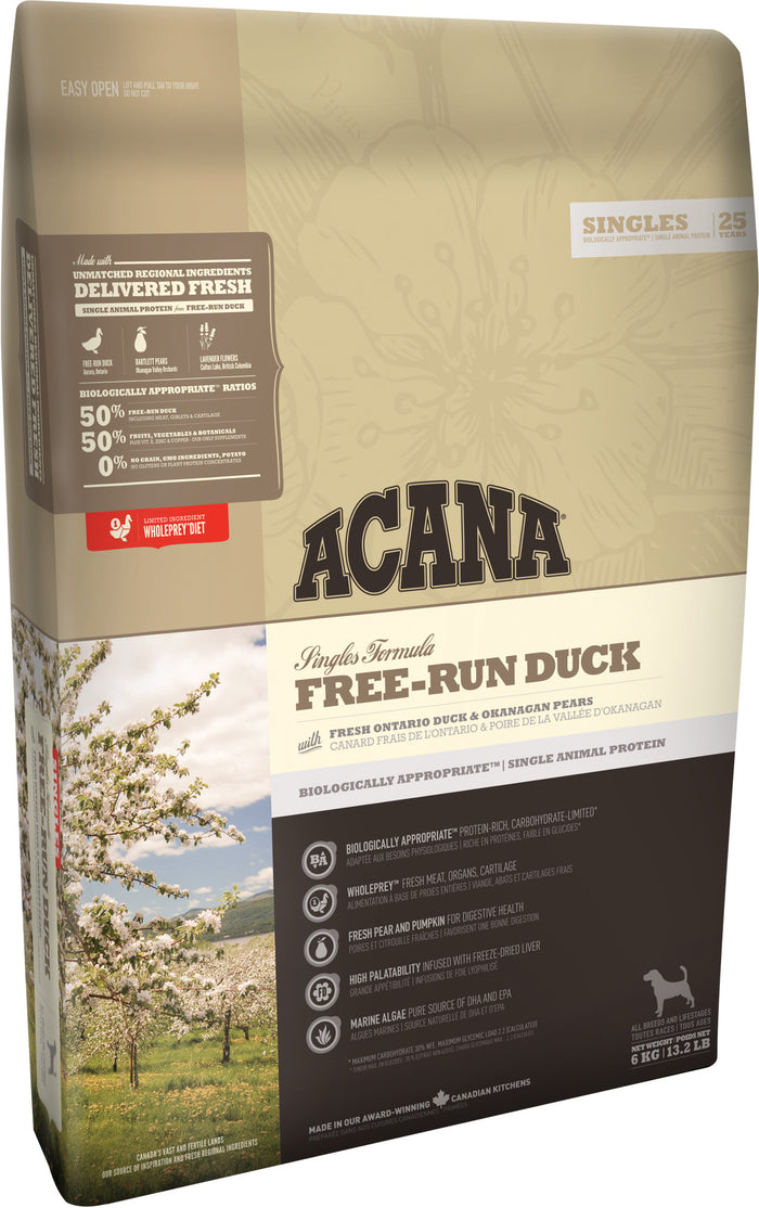 Acana Singles Free-Run Duck Dog 11.4kg
