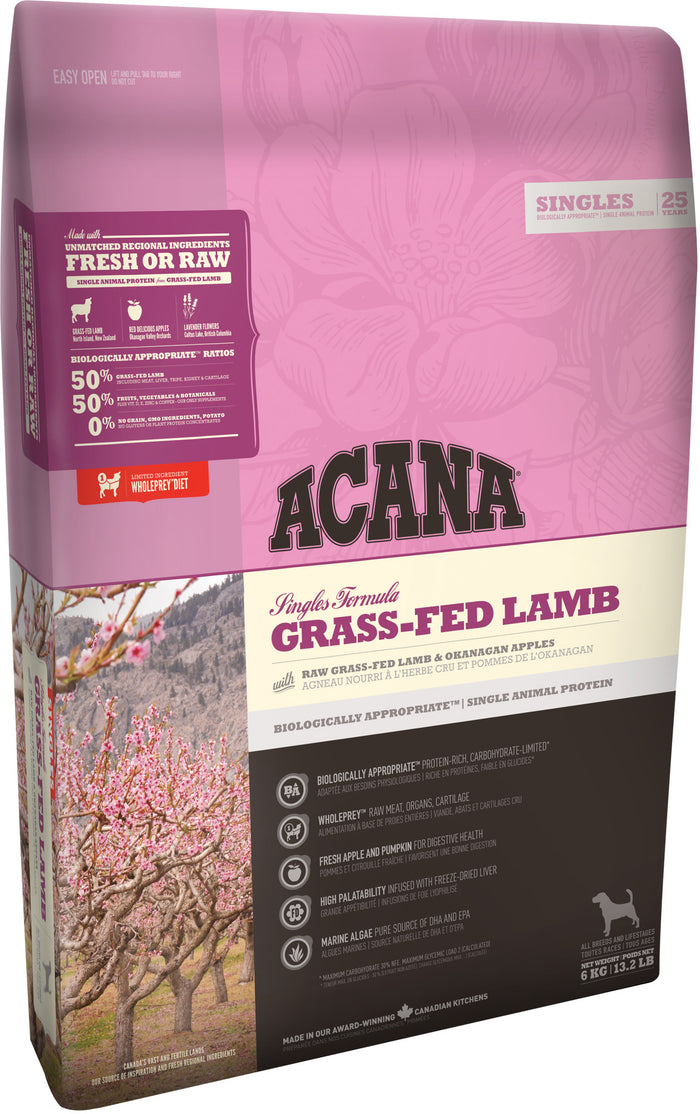 Acana Singles Grass-Fed Lamb Dog 6kg