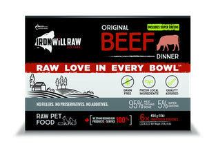 Iron Will Raw Original Beef 6x1lb