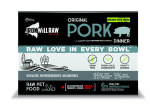 IRON WILL RAW ORIGINAL PORK 6X1LB