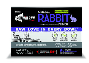 IRON WILL RAW ORIGINAL RABBIT 6X1LB