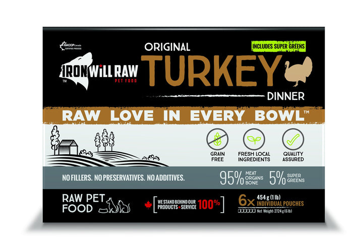 Iron Will Raw Original Turkey 6x1lb