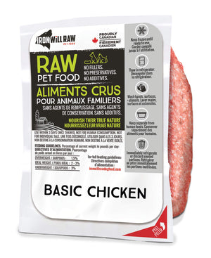 Iron Will Raw Basic Chicken 6x1lb