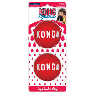 KONG SIGNATURE BALL SMALL 2PK