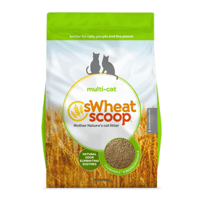 CAT LITTER-SWHEAT SCOOP MULTI CLUMP. 25LB
