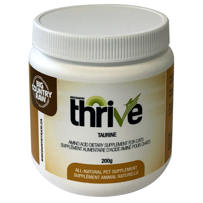 THRIVE TAURINE FOR CATS 200G  BIG COUNTRY RAW