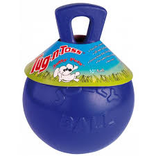 JOLLY PETS- TUG N'TOSS BALL WITH HANDLE 10""