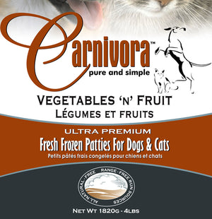 Carnivora Veggie Fruit 4lb - 8oz Patties