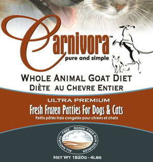 Carnivora Goat Diet 4lb - 8oz Patties