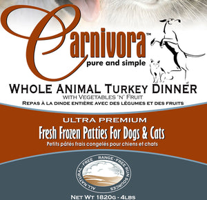 Carnivora Turkey Dinner 4lb