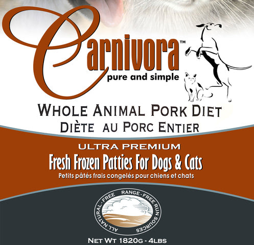 Carnivora Pork Diet 4lb - 8oz Patties