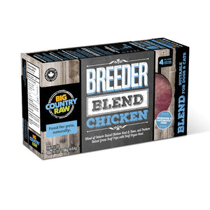 Breeder Blend Chicken 4 x 1lb Big Country Raw