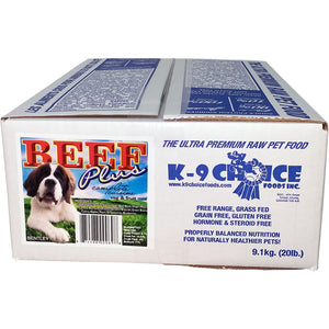 K9 Choice Raw Diets Beef Plus 9.1kg