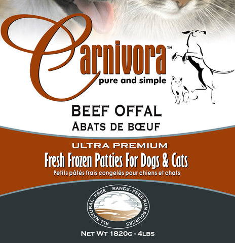 Carnivora Beef Offal Organ 4lb - 8oz Patties