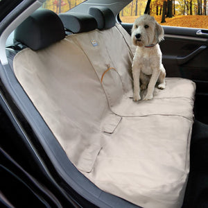 KURGO X-Wide Bench Seat Cover -Khaki