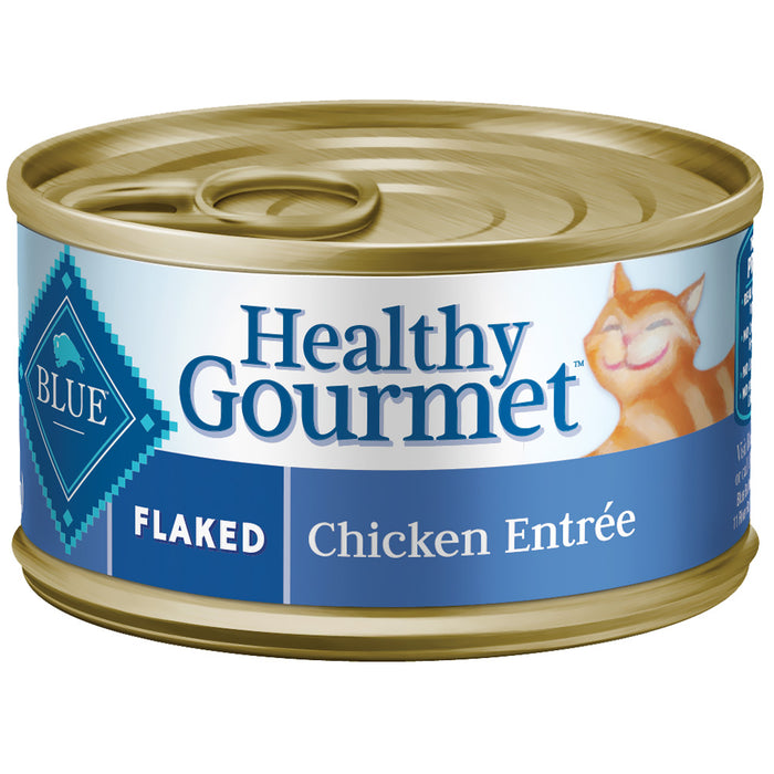 Blue Cat Can Healthy Gourmet Flaked Chicken 156g
