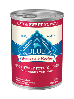 BLUE BUFFALO DOG CAN FISH/SWEET POTATO 12.5OZ
