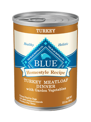 BLUE BUFFALO DOG CAN TURKEY DINNER 12.5OZ