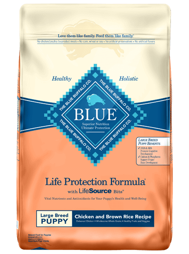 Blue Buffalo LP Large Breed Puppy 26lb (Peach Bag)