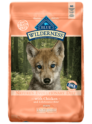 BLUE BUFFALO WILDERNESS LG BR PUP CHICKEN 24LB