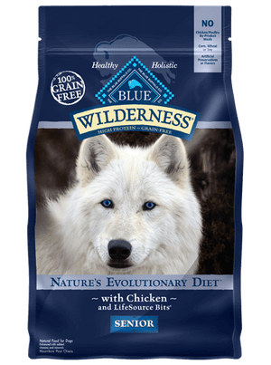 BLUE BUFFALO LP WILDERNESS DOG SENIOR 24LB