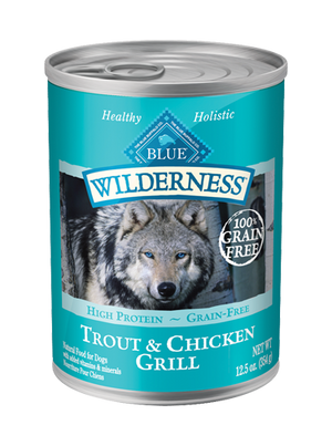 BLUE BUFFALO DOG CAN WILD GRILL 12.5OZ