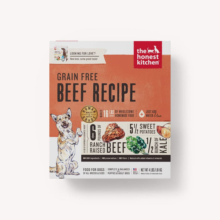 HONEST KITCHEN GRAIN FREE BEEF 4LB BOX