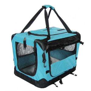 Soft Sided Kennel Blue Medium