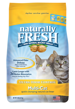 Naturally Fresh (Yellow) Multi Cat Litter 26lb Ultra Odor