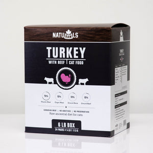 CAT TURKEY AND BEEF 24X113G NATURAWLS